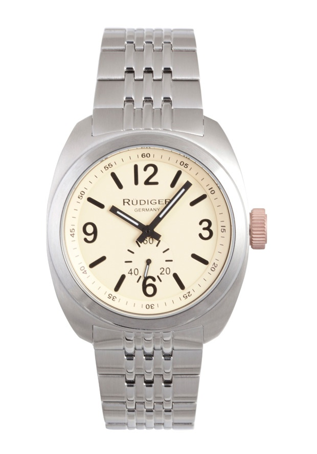 Price:$223.69 #watches Rudiger R5001-04-013.7, Rudiger Siegen Men's Round Beige Watch
