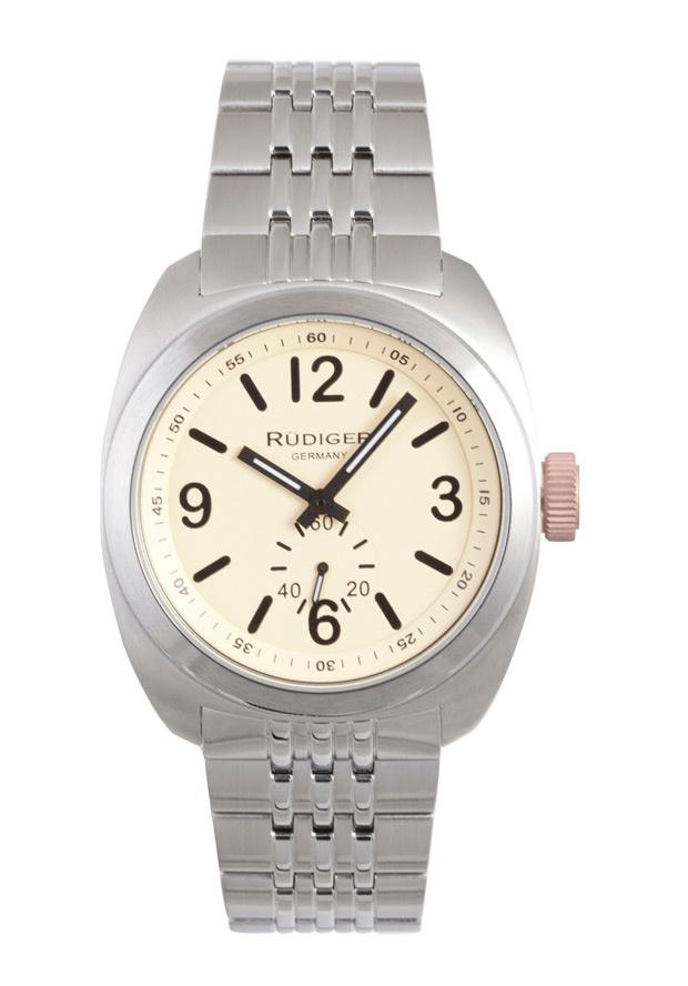 Price:$223.69 #watches Rudiger R5001-04-013.7, Rudiger Siegen Men's Round Beige Watch