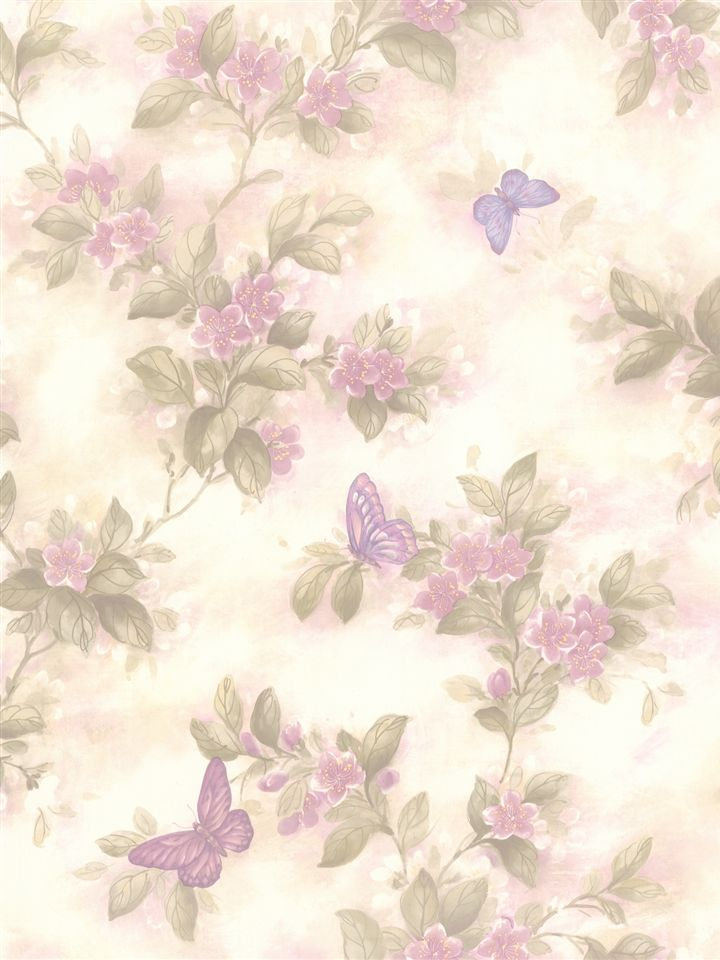 """Brewster Home Fashions For Your Bath II Lisa 33' x 20.5"""" Butterfly Floral…"""