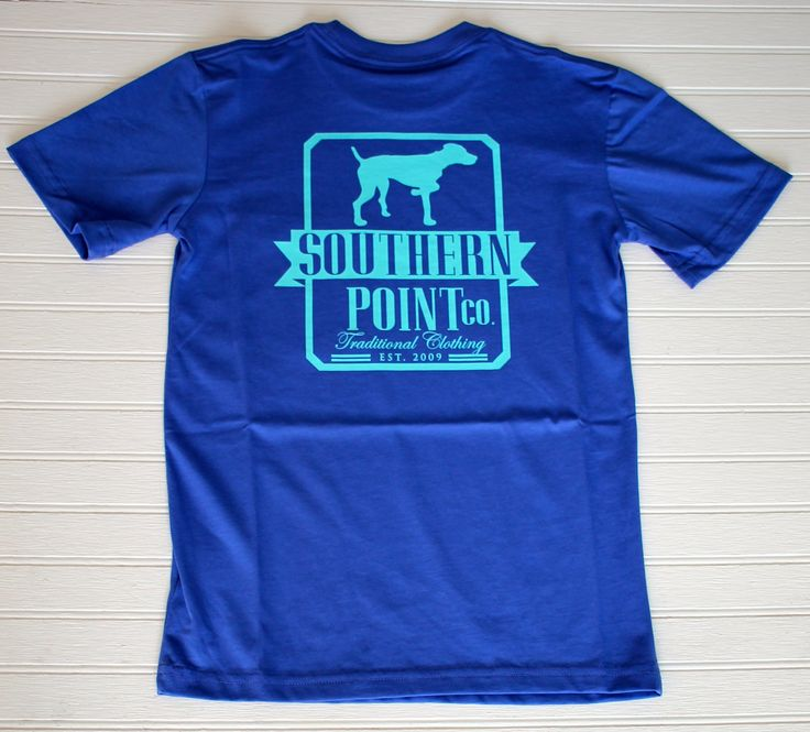 This adorable blue Southern Point Company t-shirt is the perfect casual shirt for any young gentleman. Sizing is as follows: S - 6T M - 8T L - 10T XL - 12T