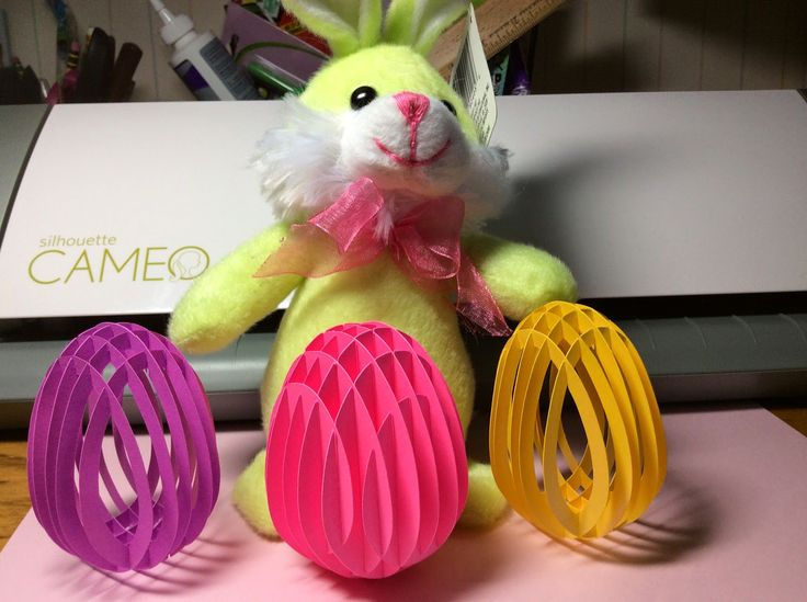 Papercrafts and other fun things: Sliceform Eggs for Easter
