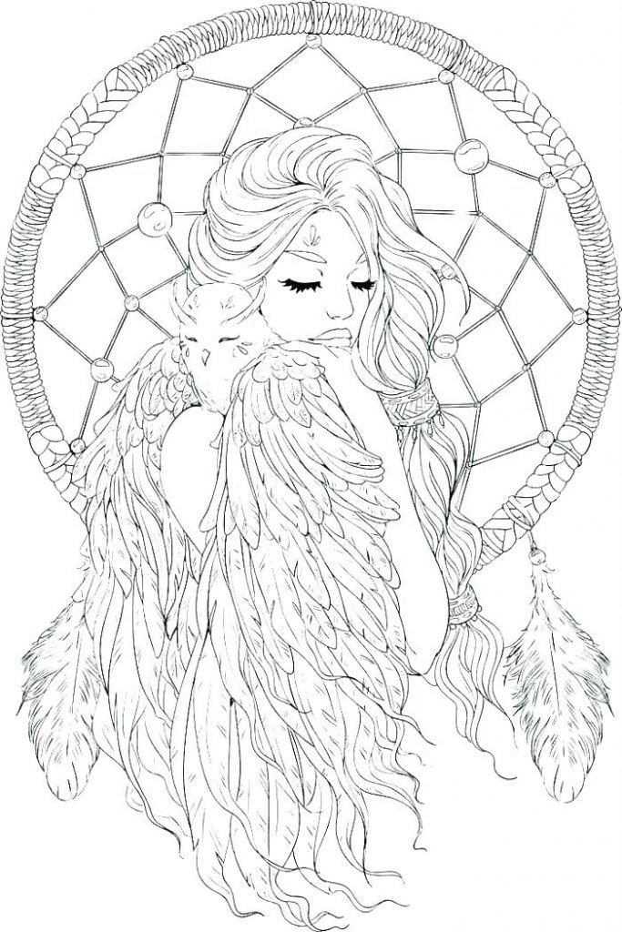 Dream Catcher Coloring Pages Best Coloring Pages For Kids Dream Catcher Coloring Pages Fairy Coloring Pages Mandala Coloring Pages