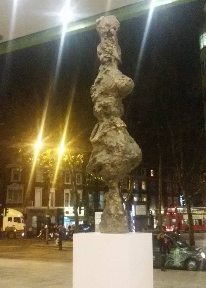 """A towering turd in St Giles, near Shaftesbury Avenue, London. The sculptor wrote """"It is rare and special to have the possibility of creating a gestural public sculpture that seeks to question the very nature of public sculpture while being one itself""""..."""