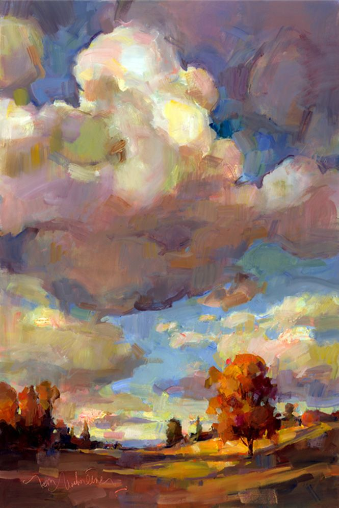 """CLOUD NINE"", OIL ON LINEN, 36 X 24"", BY TOM NACHREINER."