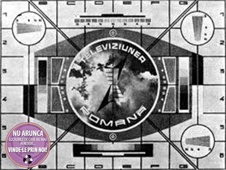 Televiziunea Română înaintea de reluarea programului la ora 16.