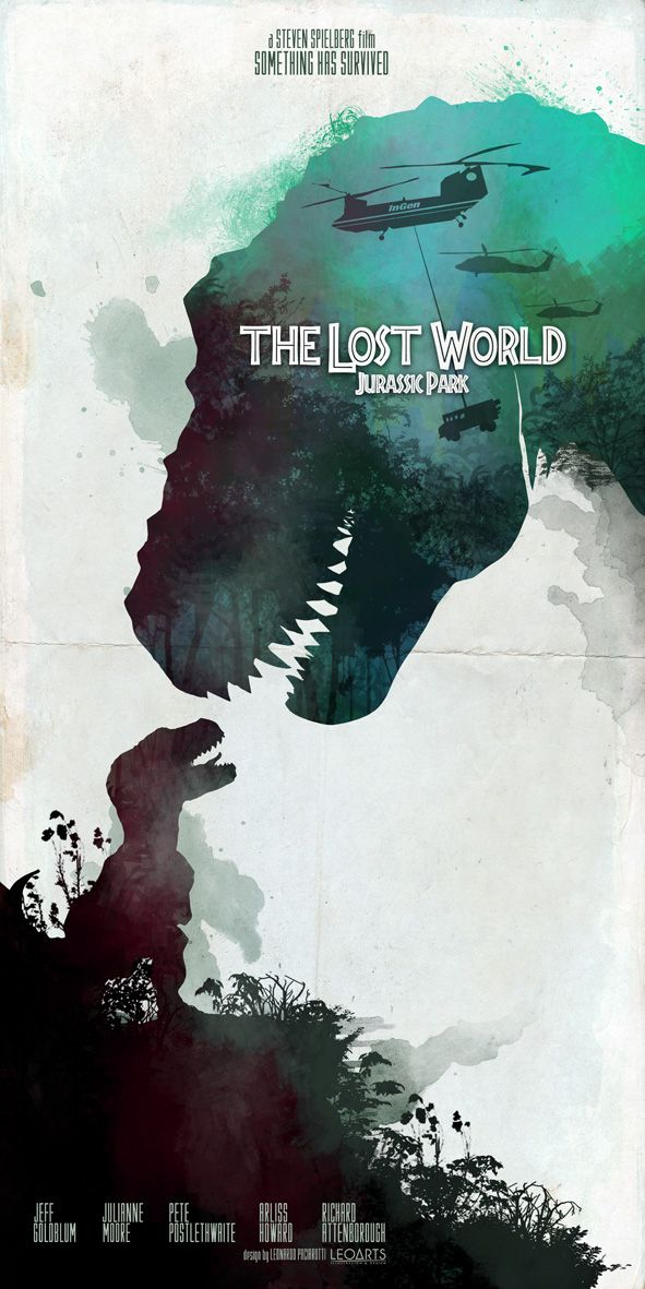 The Lost World Jurassic Park movie poster inspired by le0arts on deviantART