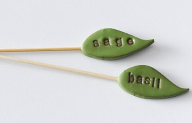 Clay Plant Markers: Make these clay plant markers for the herbs and seeds you're growing indoors.