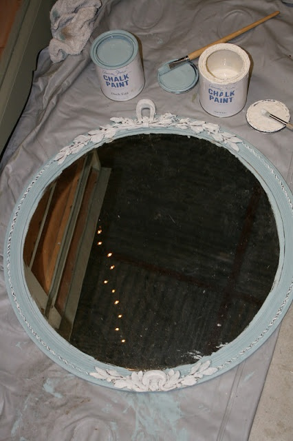 45 Best Images About Chalk Painted Mirrors On Pinterest