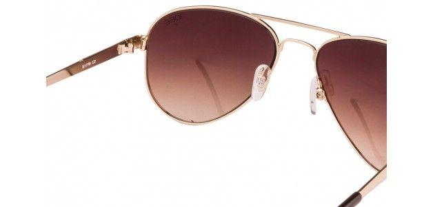 IDEE S1776 Golden Brown Gradient C2 Aviator Sunglasses