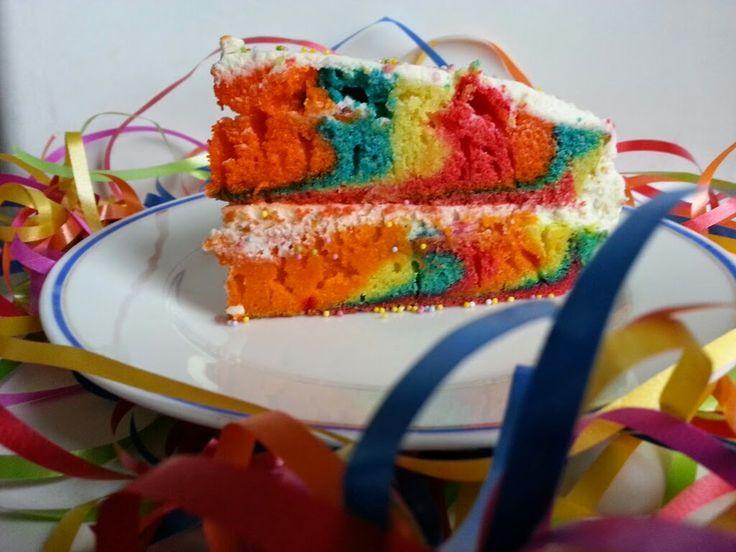 Recette du gâteau zébré rainbow