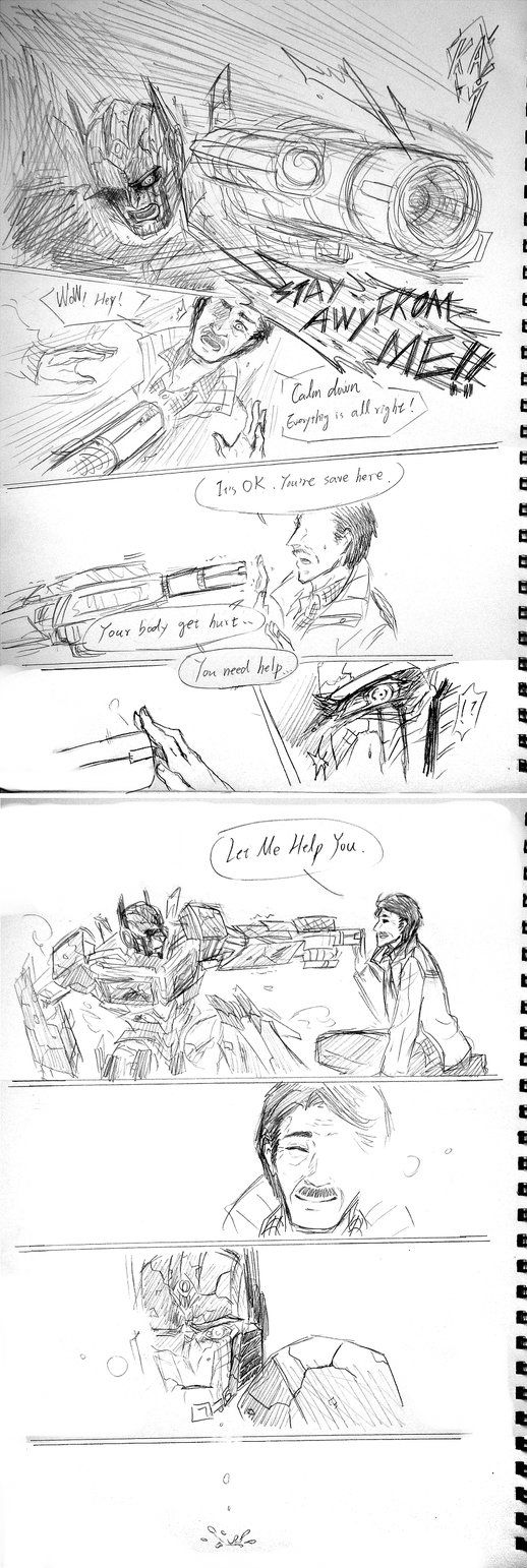 This pic so sweet poor Optimus it ok peter there to help you