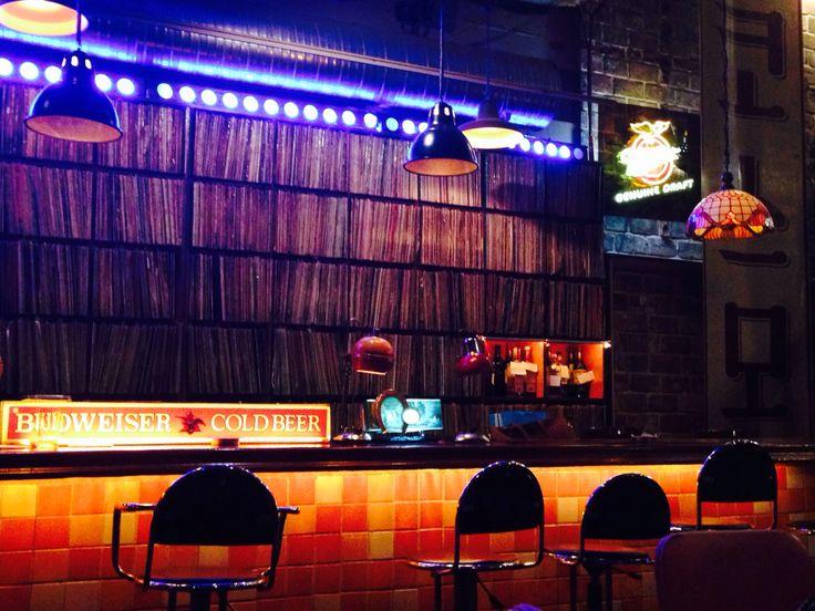 An Old k-pop LP music pub.