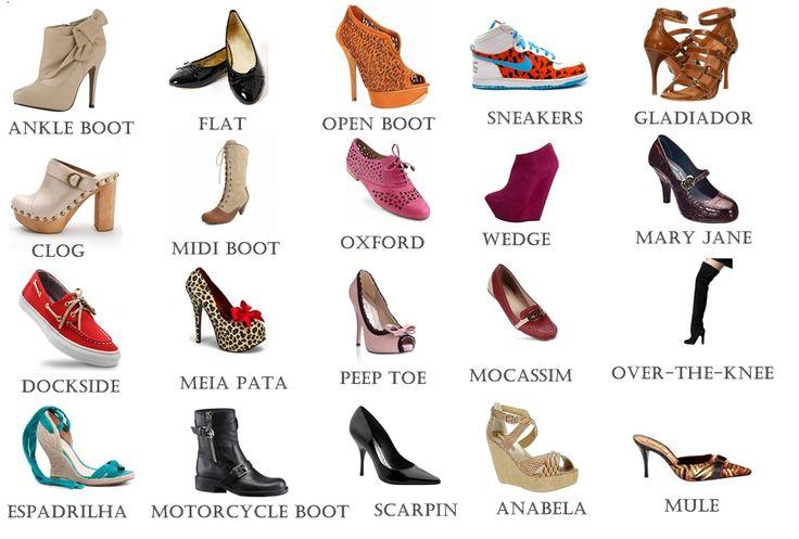 nomes de sapatos femininos | ... de sapatos e seus nomes um super dicionário do sapato bem simples e