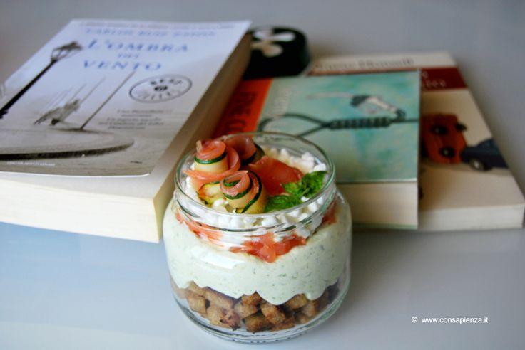 Cheesecake zucchine e salmone