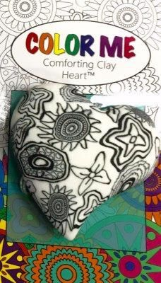 Color Me Comforting Clay Pocket Heart-Botanical (A