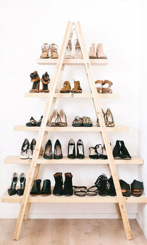 We all love a extremely organized and color coordinated closet but it's not always as easy as it looks. Here are our tips for getting a fashion girl approved closet. We love this chic shoe rack...