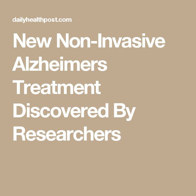 New Non-Invasive Alzheimers Treatment Discovered By Researchers