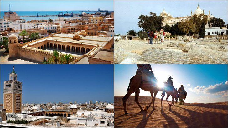 Akdeniz kıyısında yer almakta olan Tunus, Kuzey Afrika bölgesinde önemli bir yere sahiptir. Bu bölgede ticaret, sanat, politika ve kültür açısından önem taşımaktadır. Ülke ikiye ayrılmıştır, Medine kısmında ülkenin tarihi ve egzotik tarafını ortaya çıkartan sır dolu geçitler, dar sokaklar, kapalı çarşılar bulunmaktadır.