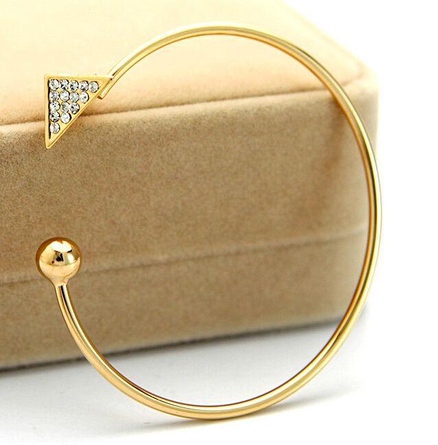 Хиты 2014 продажа красивая качество неискрящий золотые браслеты