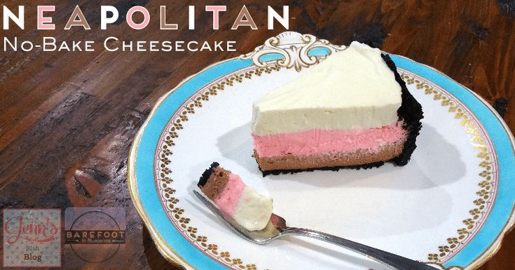 No-Bake Neapolitan Cheesecake Recipe