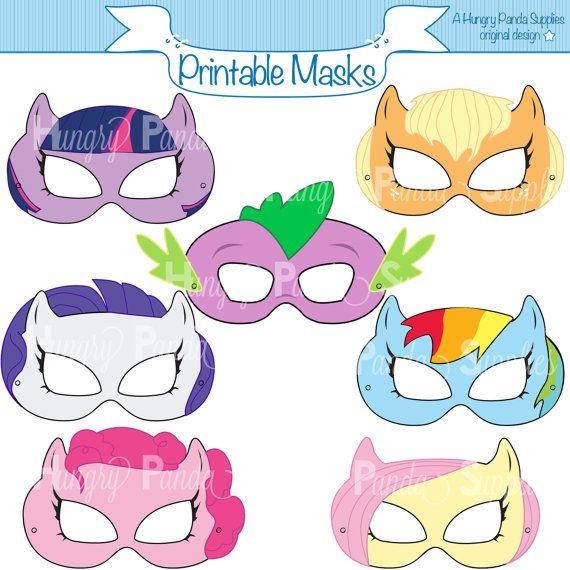 Pony de máscaras para imprimir máscara de por HappilyAfterDesigns