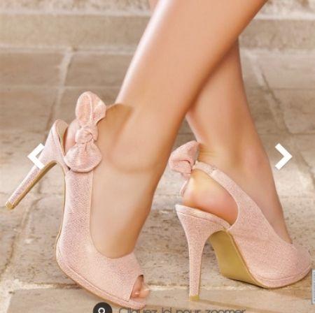 Chaussures Talon Zcf6qhc Mariage Petit Rose Poudré 0X8PknwO