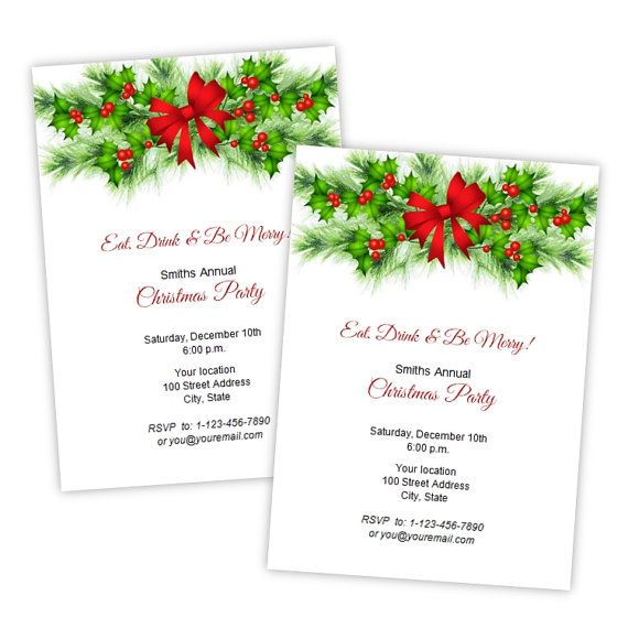 8 best Holiday Party 2015 Invite images on Pinterest Bubbles - christmas card templates for word