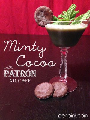 Minty Cocoa with Patron XO Cafe | Valentine's Day cocktails