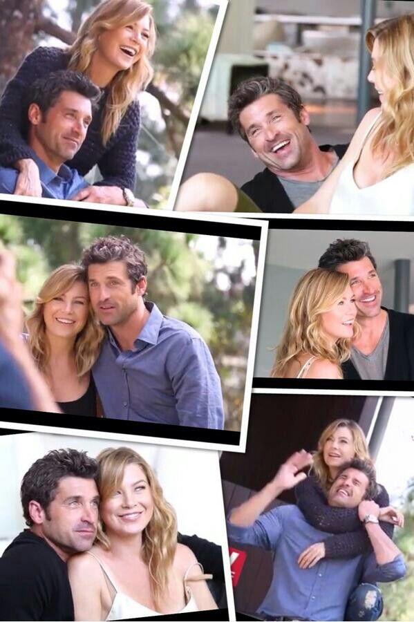 TV quick magazine shoot 2013 - Patrick Dempsey and Ellen pompeo - such a great partnership