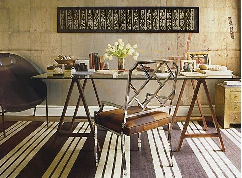 Nate Berkus design.  I would paint them bright bright orange or navy or emerald or red    oh my