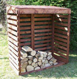 This is a great design for a wood shed!  We will have so much wood when we finish splitting all this stuff that we will need this!