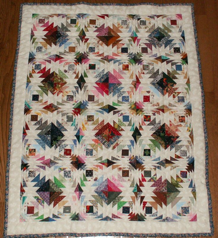 Scrap to Treasure Challenge quilt ~ Pineapple Swirl.
