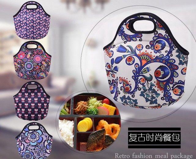 5 styles Waterproof Warm Heat Insulation Neoprene Lunch Outdoor Food Container Thicker kids Baby Bag