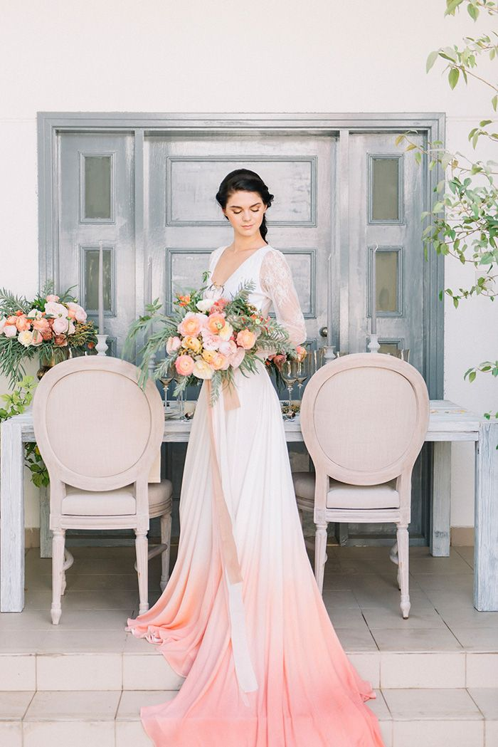 Wedding Separates with a Custom Dip Dye Skirt