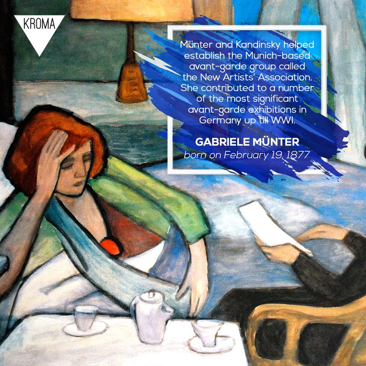 19/2 - Born Today: #GabrieleMunter was a German expressionist painter who was at the forefront of the Munich avant-garde in the early 20th century. #KROMA #Kromamagazine #KROMAborntoday #borntoday #Painting #Expressionism
