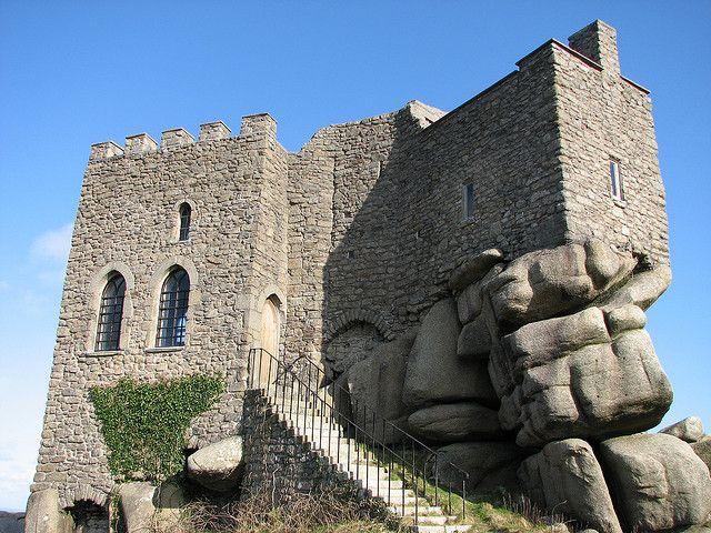 Carn Brea castle restaurant, Cornwall, UK