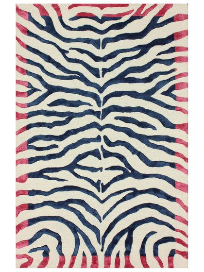 Zebra Print Hand-Tufted Rug by nuLOOM at Gilt