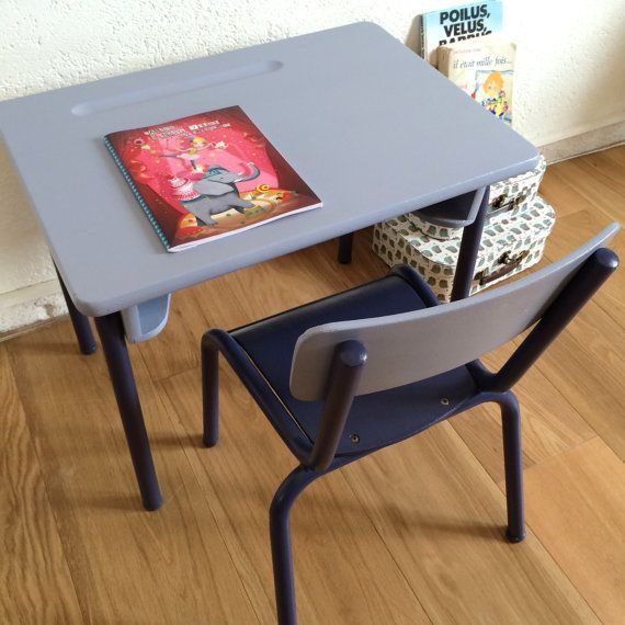 17 best images about bureau chaise on pinterest vintage style school chair - Chaise style ecolier ...
