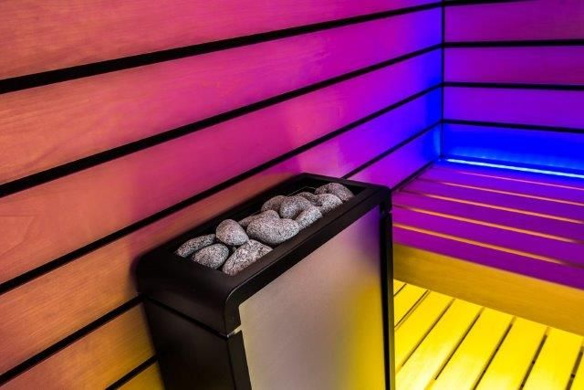 Electric heater for small saunas. Concept mini R