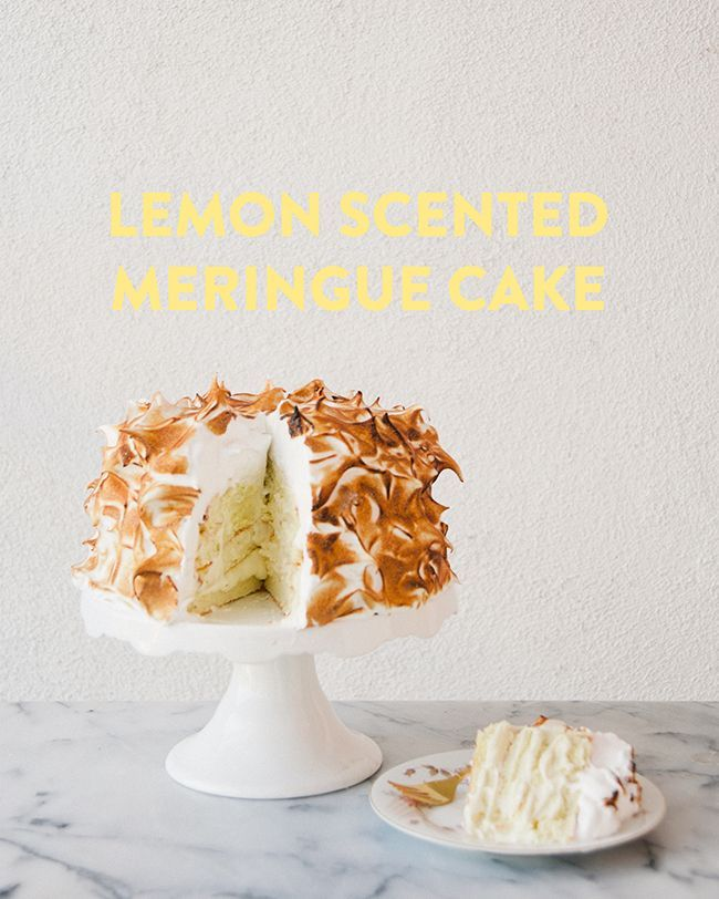 The Kitchy Kitchen: LEMON SCENTED MERINGUE CAKE // THE KITCHY KITCHEN