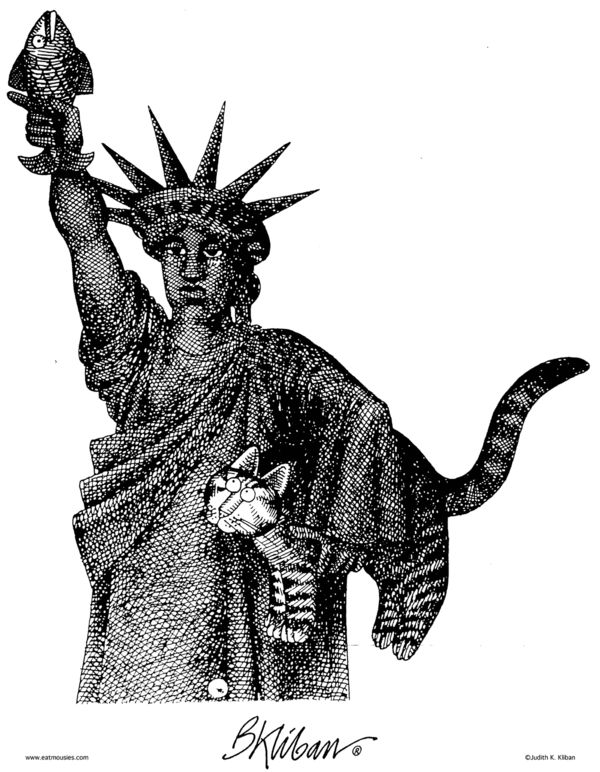 the Catue of Liberty...give me your tired, your poor, your hungry...