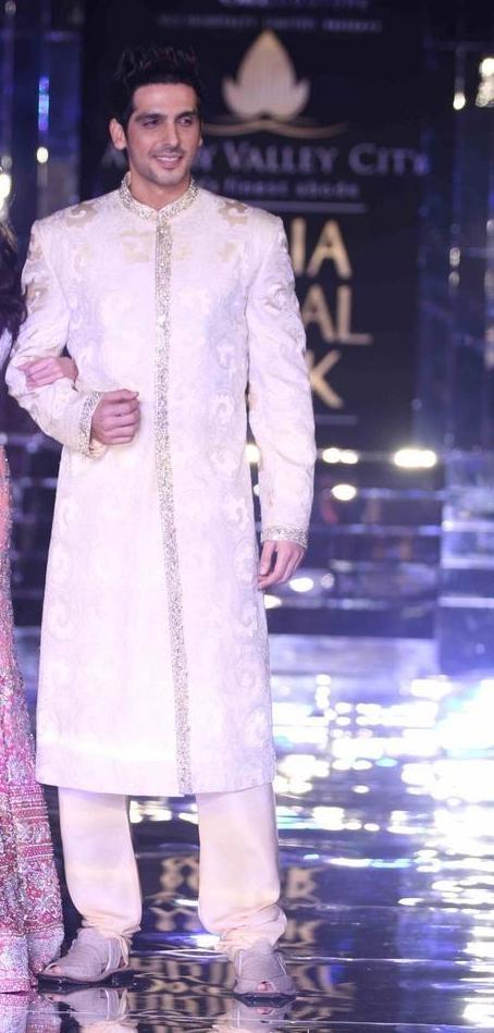 Actor Zayed Khan in Brilliant Adarsh Gill Groom's Sherwani