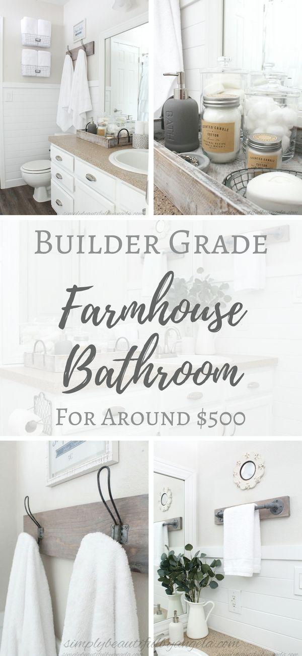 Simply Beautiful by Angela: One Room Challenge (Week 6): Builder Grade Farmhouse Bathroom Reveal