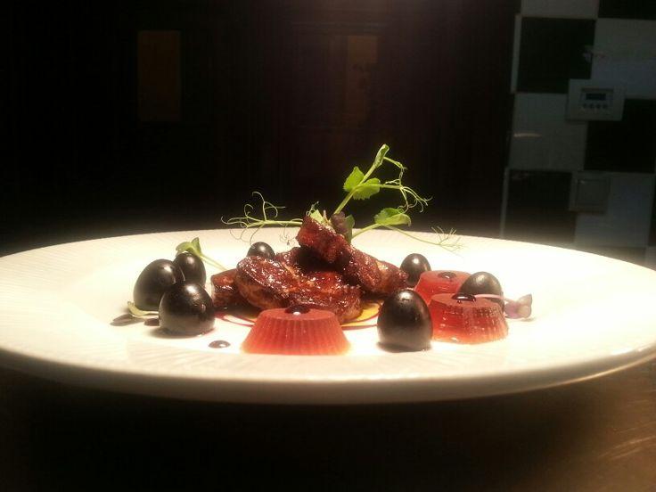 Foie gras & rose wine jelly