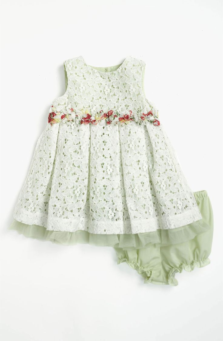 Main Image - Pippa & Julie Lace Dress & Bloomers (Baby Girls)