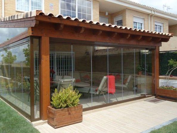 Las 25 mejores ideas sobre porche de cristal en pinterest - Puertas para porches ...