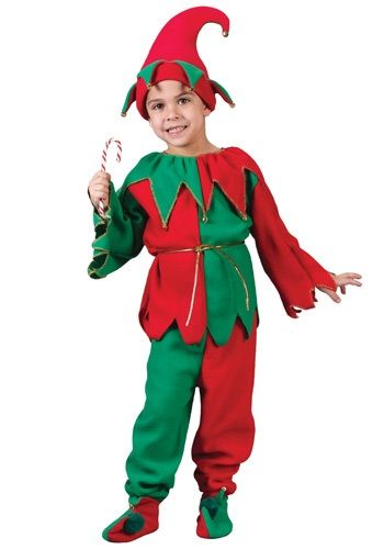 Dress up your little helper in this Child Elf Costume. This is the perfect costume for little kids who want to dress up for the Christmas festivities.
