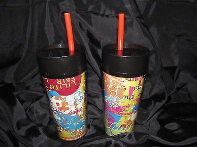 Starbucks Tumblers Lilith Fair Music Festival Travel Mugs Lot 2 Thermo Serv 1988