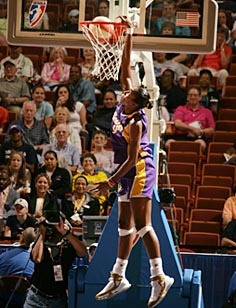 Lisa Leslie-First Women to dunk a basketball in a game.  You go girl!