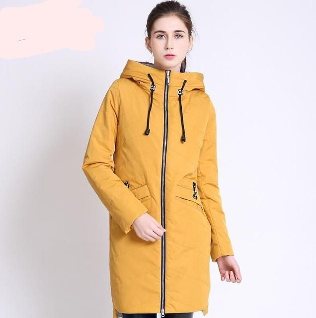 1b9821b62a03e High Quality Women s Coat Spring Autumn Female Windproof Thin Parka Long  Plus Size Hooded New Designs Women Jackets CEPRASK